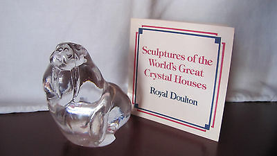 Crystal Sculptures of World's Great Crystal Houses Royal Doulton WALRUS COA