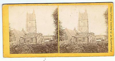Stereoview - Church By Wh Barton Triangle Clifton Bristol