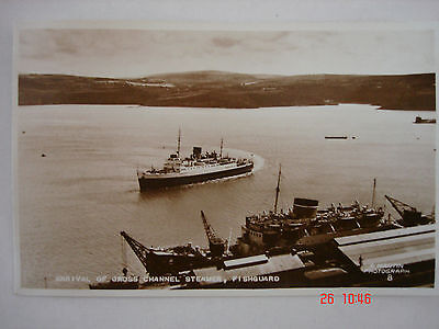 Postcard Fishguard Harbour With Inisfallen And St David