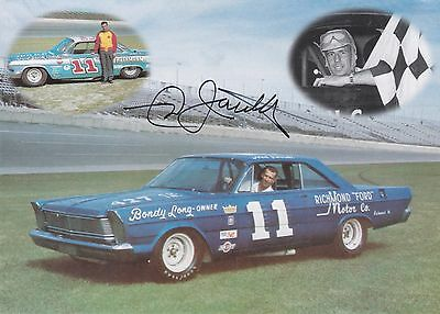 Ned Jarrett Richmond Ford NASCAR Racing Autographed Photo Card A