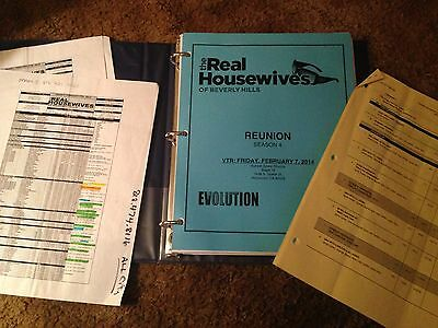 2014 REAL HOUSWIVES OF BEVERLY HILLS REUNION Original Complete TV SCRIPT