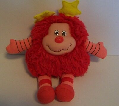 Rainbow Brite Sprite Plush Red Pink Yellow Stars Stripes
