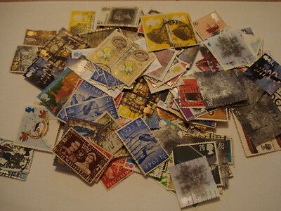 British Commemerative Stamps 90grams (1500+ Stamps)
