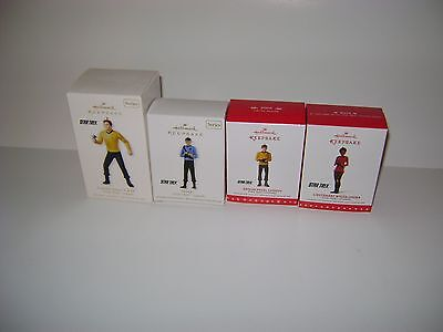 Hallmark Keepsake Star Trek Christmas Tree Ornaments; 4 Of Them (Nib)