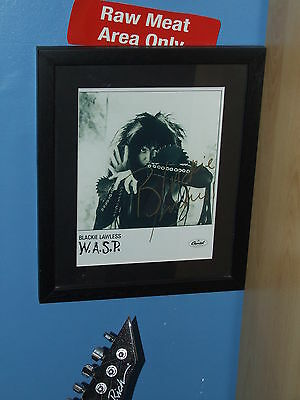 WASP..Blackie Lawless Framed Autographed Photo Print 1989 with COA Certificate.