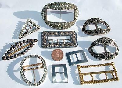Good Collection Of Georgian & Later Antique Buckles Including Silver Examples