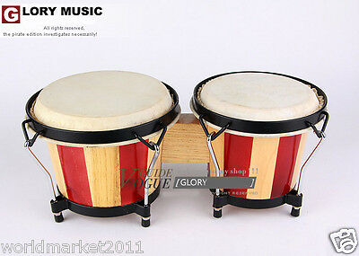 #6 Red Birch Pair Spray Painting High Quality Musical Instruments Bongo Drums