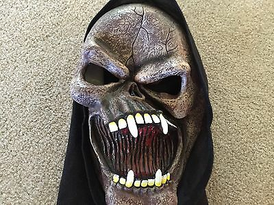Gruesome Looking Hooded Halloween Mask!  Adult Size - Very Scary!