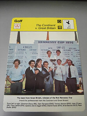 GOLF - GREAT BRITAIN / HENNESSY CUP 1977 LILLE - Sportscaster Photo Fact Card
