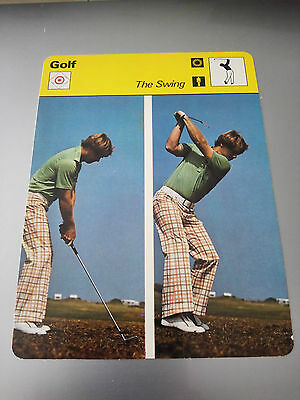 GOLF - THE SWING / DEMONSTRATED BY TOM WATSON - Sportscaster Photo Fact Card