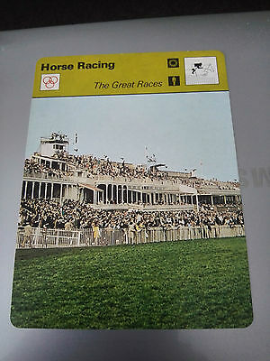 HORSE RACING - THE GREAT RACES - GRAND NATIONAL - Sportscaster Fact Card -  Rare