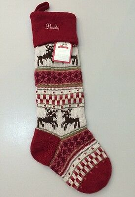pottery barn kids reindeer classic fair isle holiday christmas stocking daddy