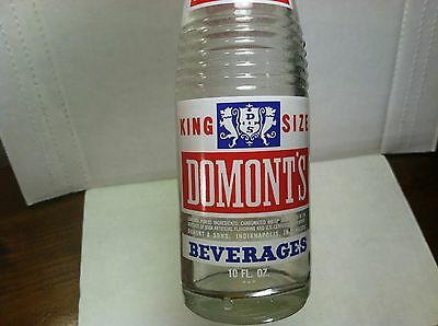 1970 Domont & Sons Domont's King Size Rainbow Beverages 10oz ACL soda bottle IN