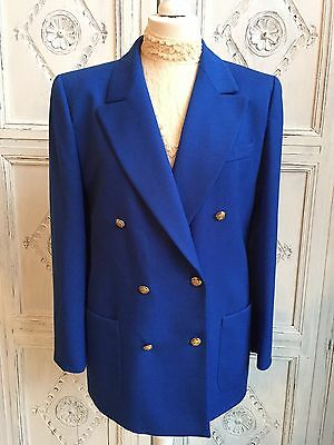 Vintage St. Michael DB Ladies Blazer/Nautical/Blue1980s Size 12-14
