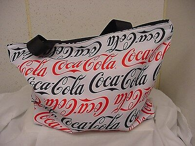 Coca-Cola Coke Repeat Polyester Tote Bag Zippered  New