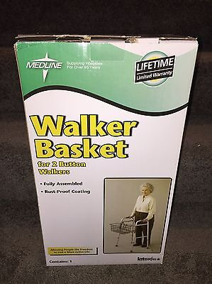 Medline Walker Basket For 2 Button Walkers Latex Free