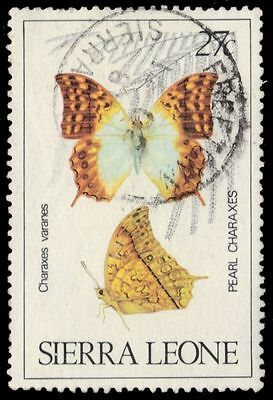 "SIERRA LEONE 488 (SG647) - Pearl Charaxes Butterfly ""Charaxes varanes"" (pa82786)"