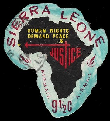 "SIERRA LEONE C73 (SG451) - Human Rights Year ""Map of Africa"" (pa82784)"