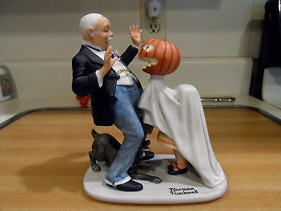 "6 1/2"" Vintage Norman Rockwell ""Trick or Treat"" Danbury Mint Figurine 1980"