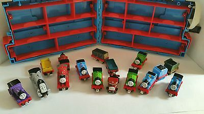 Thomas the Tank Engine Train Case with 16 Trains 2002 -2012 Mixed Pieces