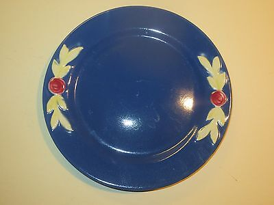 Coors Pottery Blue Rosebud Plate, 7 Inch Size Plate