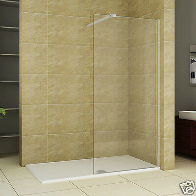 New 1950 Wet Room Shower Enclosure and Tray Walk In 8mm Nano Glass Cubicle
