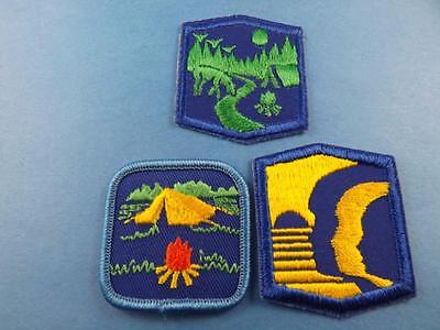 Girl Guides Canada Camping Merit  Patch 3 Piece Lot Collector