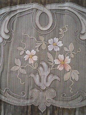 Antique French  Valance 19Th-Century  Silk Velvet Embroidery  19Th-Century