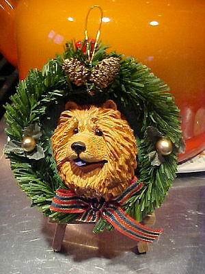 Chow  Chow  Red   Christmas Ornament  Wreath