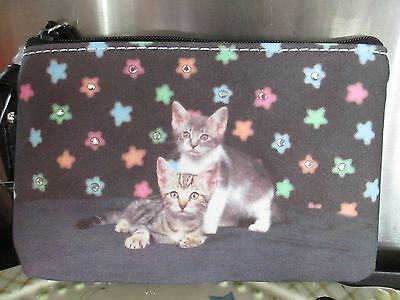 """Gray Kittens Coin Purse """" A Star Is Born """""""