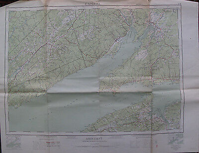 Color Map Amherst Nova Scotia Canada Wolfville Aylesford Sussex Norton 1960