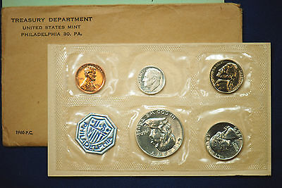 1960 U.S. PROOF SET.  Small Date Cent Variety