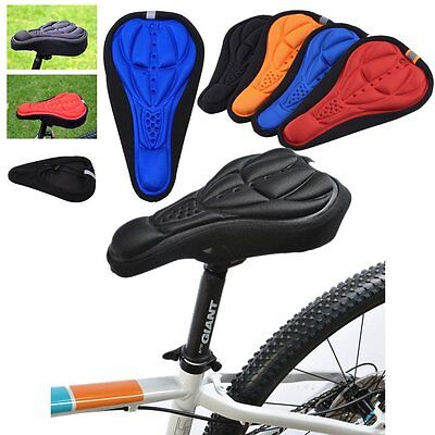 Cycling Bike Bicycle MTB Silicone Gel Cushion Soft Pad Saddle Seat Cover JR