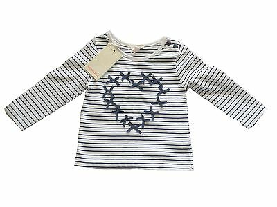Monsoon Baby Stripy Top 3-6 Months NWT