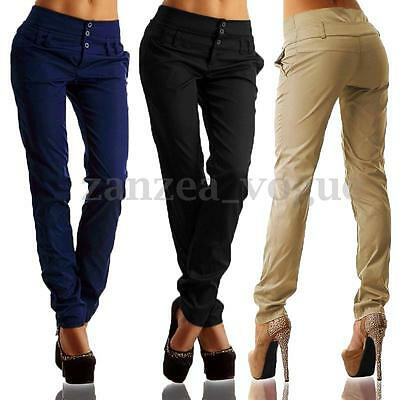 Women Autumn High Waist Skinny Leggings Casual Pencil Work Long Pants Trousers