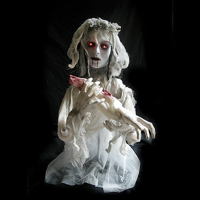 Animated Cannibal Ghost Bride Girl Haunted House Halloween Party Decoration