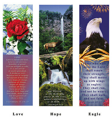 1 lot of 25 Inspirational Bookmarks Bible vs and digital photo art, Scroll down