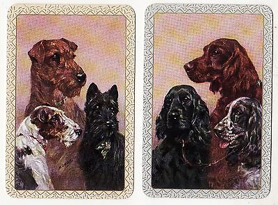 SUPERB DOG PORTRAITS  Pair of Vintage Swap/Playing Cards