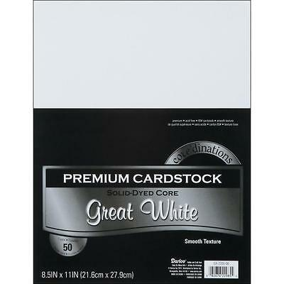 Core'dinations Value Pack Cardstock 8.5x11 50 Sheets - Smooth White
