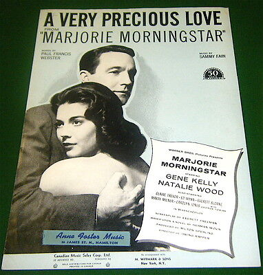 A VERY PRECIOUS LOVE 1958 Sheet Music from MARJORIE MORNING STAR, Canadian