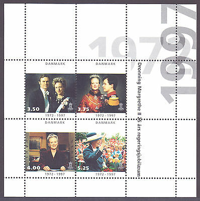 DENMARK 1997 stamps m/s Queen Margrethe Silver Jubilee um (NH) mint
