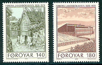 FAROE ISLANDS 1978 stamps National Library um (NH) mint