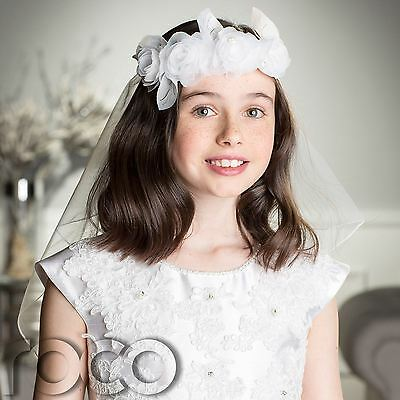 Girls Veil, White Communion Veil, Communion Accessories, Holy Communion
