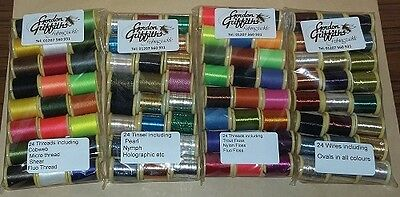 Mixed Pack Tinsels, Wires, Threads and Floss x 48 Spools