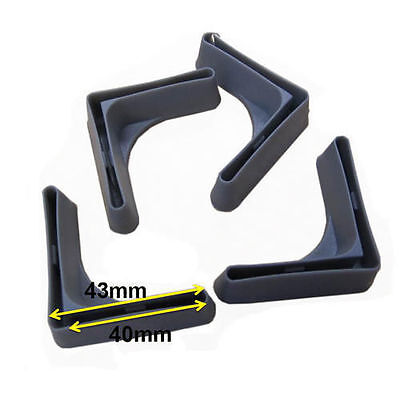 Pack Of 4 Protective Plastic Feet For Shelving Racking