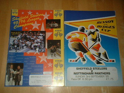 2 X Sheffield Steelers V Nottingham Panthers Ice Hockey 1995/6