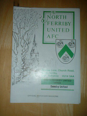 1991/2 North Ferriby V Denaby United - Northern Counties League