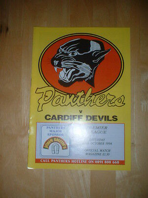 1994/5 Nottingham Panthers V Cardiff Devils Ice Hockey