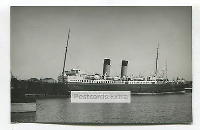 Ferry TSS Maid of Orleans in unknown port - old postcard-sized photo