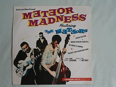 """THE METEORS Meteor Madness EP UK 7"""" PS 1981 ex minus/vg+ black labels"""